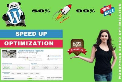 I will speed optimization WordPress website speed in 24 hours