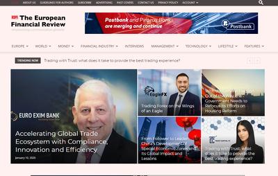 Guest post on Europeanfinancialreview.com business - DA 48