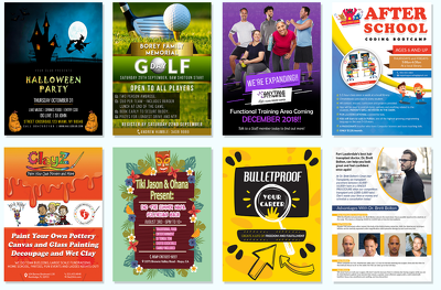 Provide design you an attractive flyer for your product or event