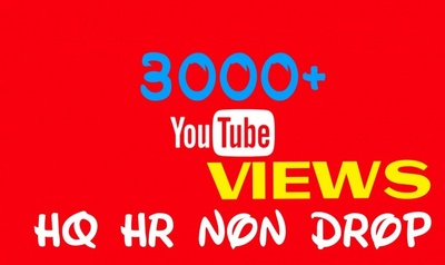 Boost Your Youtube Video And Get you 3000+ Views For your Rank