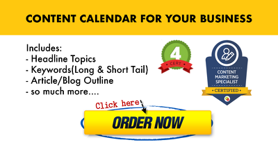 Create a 4 month content calendar for your business or blog