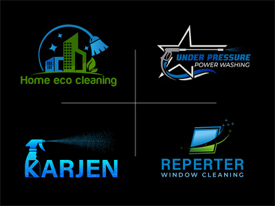 Design cleaning logo 3 initial concepts Unlimited revisions