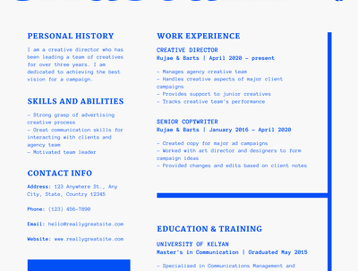 design CV, get 5 designs with creative or professional design
