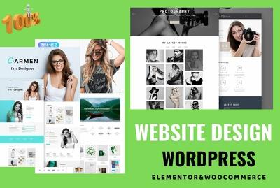 Create WordPress website or  customization web design