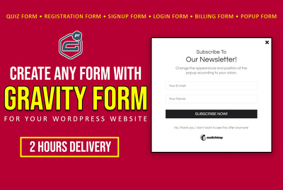 Create advanced wordpress form or popup using gravity forms