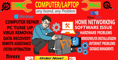Troubleshoot windows mac computer laptop network IT problems