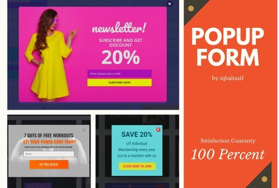 Popup form gravity registration contact form WordPress in 4 hour