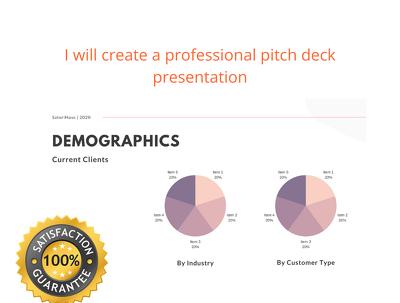 Create a professional pitch deck presentation