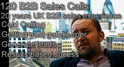 Make 120 sales/event/appointment cold calls