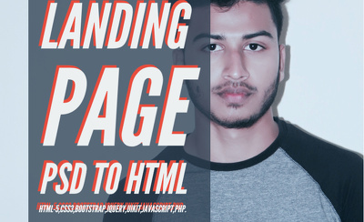 Design a psd to html high quality landing page
