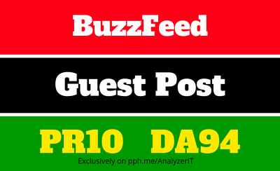 Write and publish Content on BuzzFeed dofollow link DA94 PR10