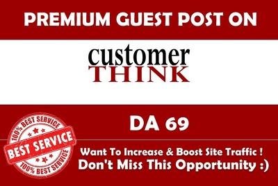 Publish a guest post on Customer Think CustomerThink.com - DA61