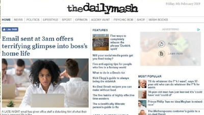 Write and publish an article on thedailymash.co.uk