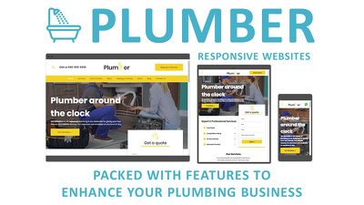 Build a responsive website for a Plumber