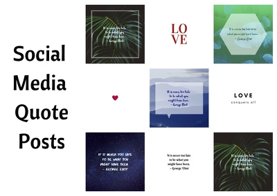 Design 10 stylish quote posts for your social media
