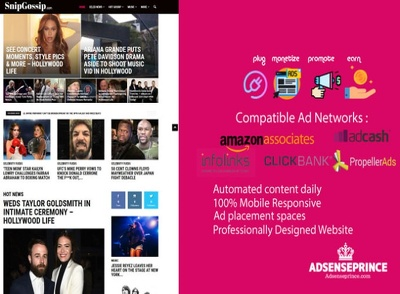 Create an automated Hollywood gossip news turnkey site