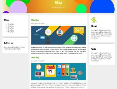 A basic HTML5/CSS3 website