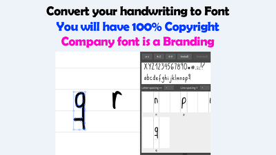 Convert your handwriting to Font