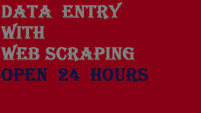 Do one document data  entry with web scraping for 2 hours