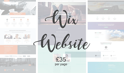make one page for your Wix website