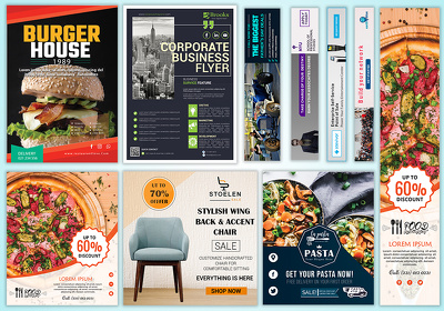 Design business flyer, corporate flyer and event flyer for you