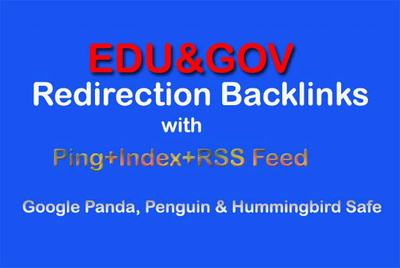 50 Edu and Gov Redirect Backlinks PR10-PR5 with Ping+Index