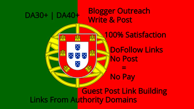 Guest Post Blogger Outreach Link Building Portugal Sites