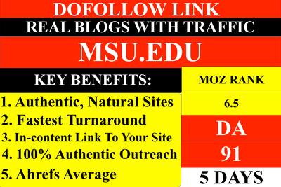 Guest Post On Msu.Edu DA91 dofollow link