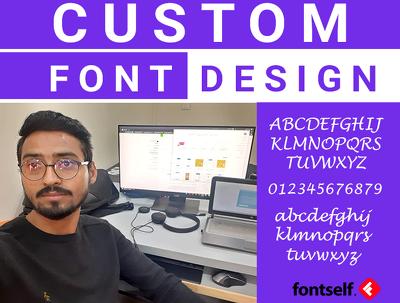 Create develop edit convert custom font design otf ttf business