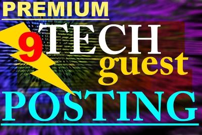 PREMIUM Guest Posting * 9x TECHNOLOGY Niche links *