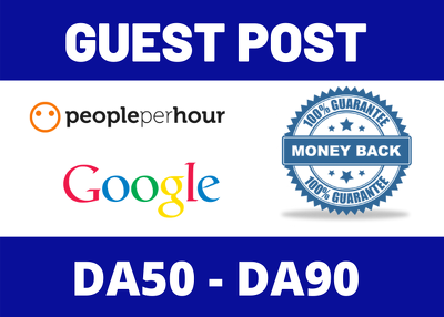 Write & Publish 20 Guest Post Blog Post Average DA50 DA90 Site