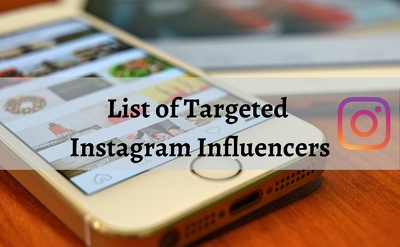 Create a list of best Instagram influencers for your brand