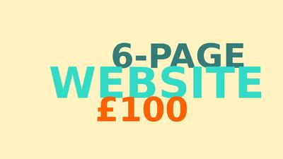 create a 6-page website including contact form, captcha, etc.