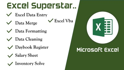 Provide excel hero and do excel data entry, data merge, cleanup