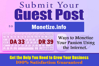 Place a e-Commerce guest post on Monetize.info with Dofollow