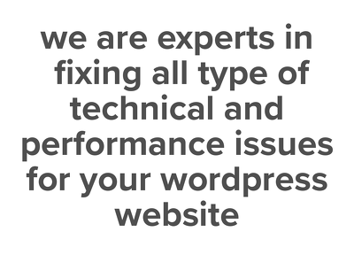 30 mins of customisation and bug fixing for wordpress website