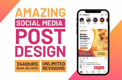 Design 24 Social Media post for IG, FB, Twitter & Linkedin