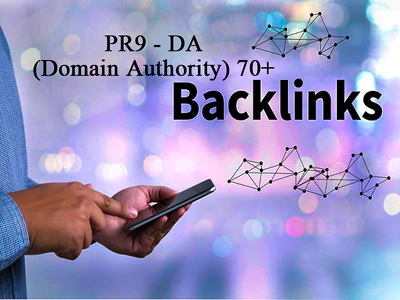 Create PR9 - DA (Domain Authority) 70+  Backlinks