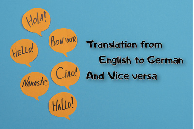 Translate from English to German and vice versa (600 words)
