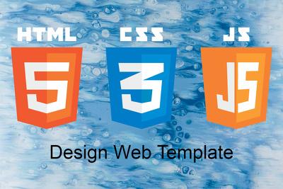 Design HTML5, CSS3, JS Template