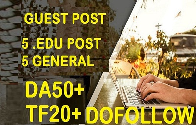write & publish 5 Quality .EDU AND 5 General DA50+ TF20+ Blog