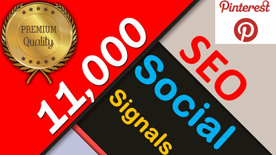 LIMITED OFFER!!!! ⭐️11,000 Social Signals⭐ Pinterest