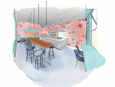 Create a concept illustration of your home/office/restaurant