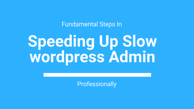 Speed up wordpress site professionally
