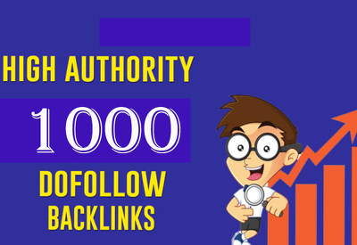 Create 1000 dofollow backlinks for your website
