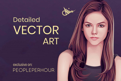 Illustrate vector art portrait or cartoon of your image