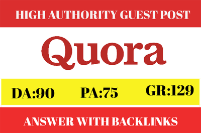 Guest Post on Authority Domain Quora.com DA90 PA75