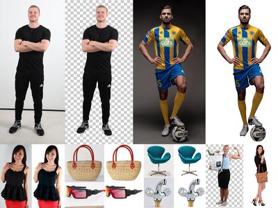 Do photo editing, background removal, image retouching