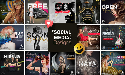 Design awesome social media post, design, banner ads