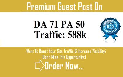 Do google optimized guest post DA 71 with dofolow backlink
